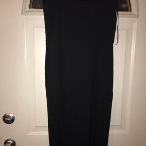 Black fitted spaghetti strap dress